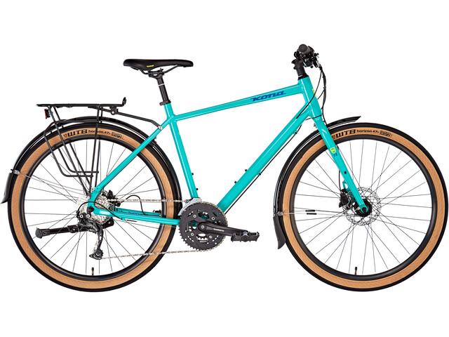 Kona Dew Deluxe Touring Bike turquoise